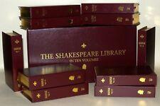 The Shakespeare Library Books In Ten Volumes, Hardbacks, ( Cased Book Set) c2000