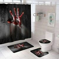 The Walking Dead Bathroom Rugs Shower Curtain Non-slip Bath Mat Toilet Lid Cover