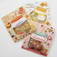 San-X Rilakkuma bears cute kawaii kitsch 3D gold accented pvc sticker packs