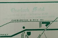 1954 Overlook Motel Charlottesville Virginia Map Travel Brochure Albemarle Co