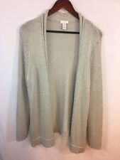 Chico's Women's Knit Taupe Open Front Sweater Size 3 Super Cozy Comfy Shrug