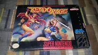 Kendo Rage (Super Nintendo, 1993) SNES Brand New Factory Sealed H Seam Rare!!