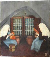 Peintures du XXe siècle et contemporaines huile signé pour Art naïf