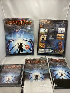 Sacrifice PC CD-Rom Game Big Box Date 2000  Game Manual Guide Free P&p Role-play