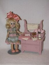 Pink Wooden Wash Stand Great Prop For Vogue Ginny Dolls---NO DOLL