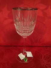 Waterford Crystal Lismore Diamond Platinum Goblet Glass 163712 New With Tags