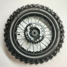 "12mm Axle 80/100-12 12"" Rear Wheel Disc Rotor Sprocket For Pit Dirt Bike"