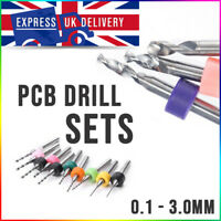PCB Drill Bits Tungsten Carbide 10pc Set - Highest Japanese Quality - UK Stock