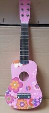 "New GUITAR PINK Flower 21"" KIDS ACOUSTIC GUITAR MUSICAL INSTRUMENT CHILD TOY"
