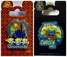 Disney Parks 2 Pin Lot Toy Story Green Men Magic Kingdom Fireworks + Chosen One