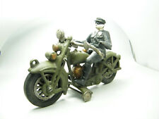 Antik Spielzeug Motorrad & Fahrer 1,3kg schwer Harley Davidson Polizei ca. 1950?