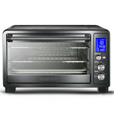 Toaster Oven With Rotisserie Large Electric LCD Display Screen New