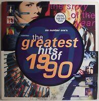 "THE GREATEST HITS OF 1990 Various Artists LP Double Album 12"" Vinyl VG Telstar"