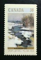 Canada #1256b Top MNH, Christmas Winter Landscapes Booklet Stamp 1989