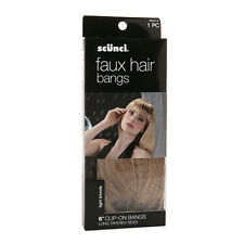 Scunci Faux Hair Bangs, Clip On Bangs, 6 inch, Light Blonde, 1 each