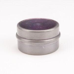 Antique Purple Pewter Covered - Pocket Travel Inkwell Ink Bottle