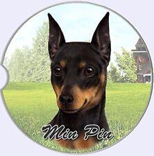 ES Pets Absorbent Stoneware Car Cup Holder Coaster, Miniature Pinscher