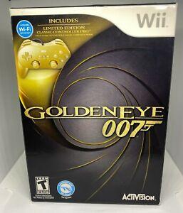 GoldenEye 007 (Nintendo Wii, 2010) SEALED NEW NIB With Gold Controller