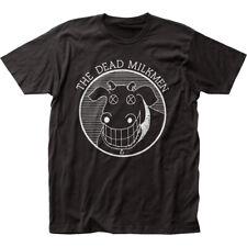 Dead Milkmen Punk Rock Band Music Cow Logo Black Adult Fitted Jersey T-shirt Tee Small