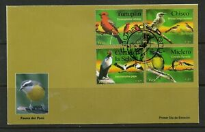 Peru  FDC stamps  birds,