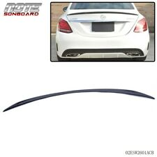 For Mercedes Benz W205 C-Class C63 C300 Carbon Fiber Rear Trunk Spoiler 14-16 (Fits: Mercedes-Benz)