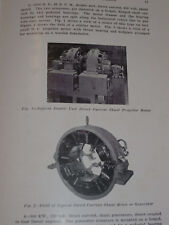 VINTAGE 1920s WESTINGHOUSE DIESEL ELECTRIC PROPULSION FOR SHIPS GUIDE! PICTURES