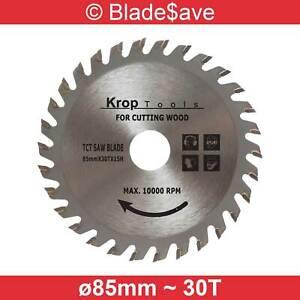 Skil Circular Saw Blade Fine Cut TCT 85mm x 15mm x 30T by KROP (2 Pack)