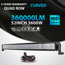 """Quad Row 52""""inch 3600W Curved LED Light Bar Combo Offroad Jeep Truck ATV 50/54"""""""