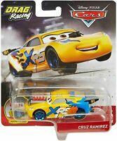Disney Pixar Diecast CARS XRS Drag Racing Moving Pistons Cruz Ramirez GFV35 NEW
