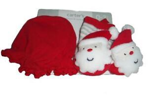 Carter's Baby Santa Scratch Mittens & Socks Set Santa Rattles Size - 0-3 Months
