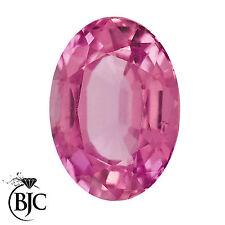 BJC® Loose Natural Oval Cut Pink Topaz 100% Natural 5mm x 3mm - 8mm x 6mm