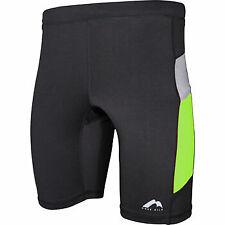 More Mile More-Tech Mens Short Running Tights Black Green Race Sprint Short