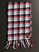 Vintage Scarf Vintage Woven Scarf Unisex Wool Scarf Vintage Mod Scarf Blue Red