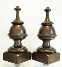 Victorian oak finials, huge architectural grand feature staircase newel posts