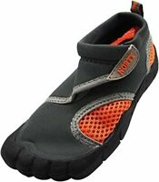 Kids NORTY Boys Water Shoes Low Top Bungee Water Shoes, Grey/Orange, Size  S6zl