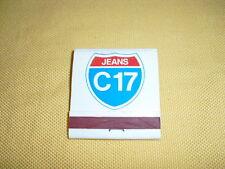 """POCHETTE D'ALLUMETTES Publicitaire """"Jeans C17"""""""