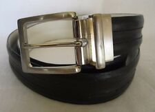 BEVERLY HILLS POLO CLUB GENUINE LEATHER REVERSIBLE BLK/WHITE BELT SIZE 34