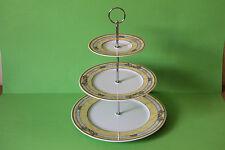 zauberhafte dreistöckige Etagere Teller Tirschenreuth Diplomat Bouquet    041719