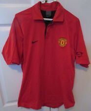 Manchester United Soccer Football Polo Golf Shirt By Nike Red Large EUC