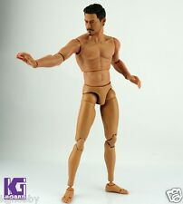 1/6 MUSCULAR Nude figure body for Hot Toys Head Sculpt Parts+7 hands Hitfigure
