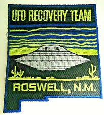 """X-files """"Ufo Recovery Team"""" Roswell, Nm (Area 51) Embroidered Patch -new"""