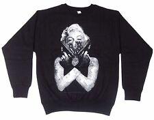 MARILYN  Crewneck Sweatshirt Tattoo Bandit Graffiti Art Adult Men New