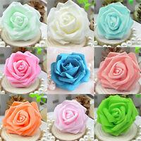 EG_ 50pcs Foam Rose Heads Artificial Flowers Wedding Bride Bouquet Party Decor D