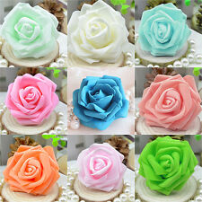 FX- 50pcs Foam Rose Heads Artificial Flowers Wedding Bride Bouquet Party Decor D