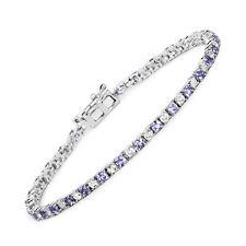White Tanzanite 4.65 ct Bracelet 925 Sterling Silver Topaz Gemstone 7.25 inches