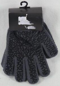 Nike Boys Jumpman Gloves Grey Black Size 8/20 NWT