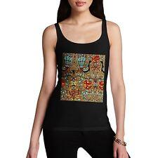Women's Premium Cotton Peacock Pattern Design Tank Top