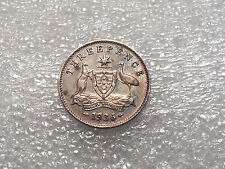 1936 AUSTRALIA--3 PENCE--BETTER GRADE--.925 SILVER-.0393 ASW
