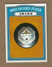 1972  TOPPS  MOST  VALUABLE  PLAYER  AWARD  #  622   NEAR MINT