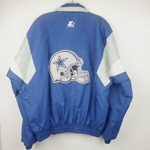 Men's Vintage Dallas Cowboys Starter Puffer Jacket NFL Football Size Large 90's